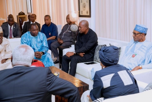 West African leaders in Gambia to urge peaceful transition